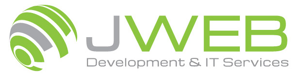jweb logo white and grey stripe
